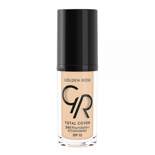 Тональный крем Golden Rose TOTAL COVER 2in1 Foundation & Concealer 01-Porcelain